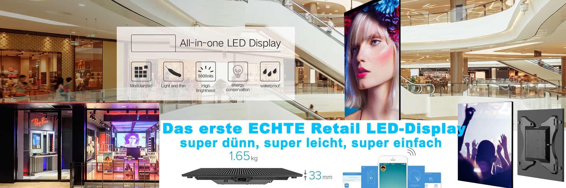 Retail LED Videodisplay